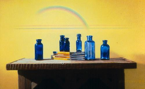 CDs and Blue Bottles