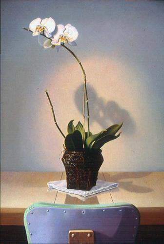 Orchid and Chair